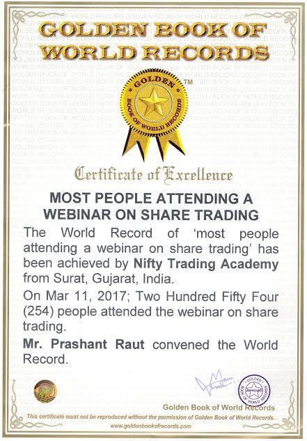 Nifty trading academy world record